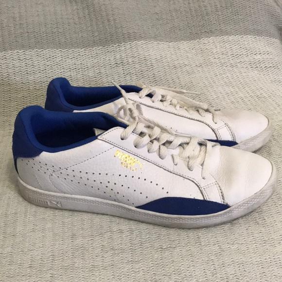 site réputé 76453 5458e Puma Match blue & white leather sneakers